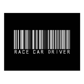 Clave de barras del conductor de coche de carreras postal