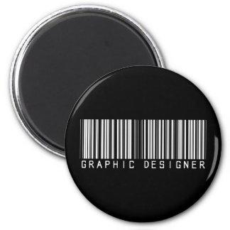 Clave de barras del diseñador gráfico imán redondo 5 cm