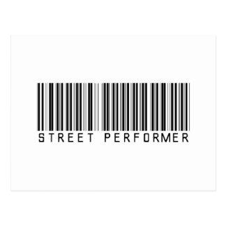 Clave de barras del ejecutante de la calle tarjetas postales