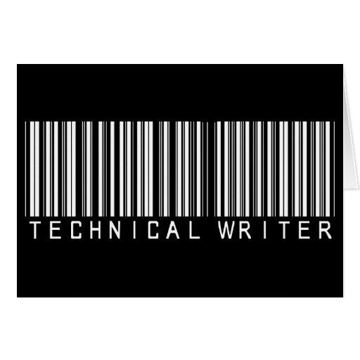Clave de barras del escritor técnico felicitación