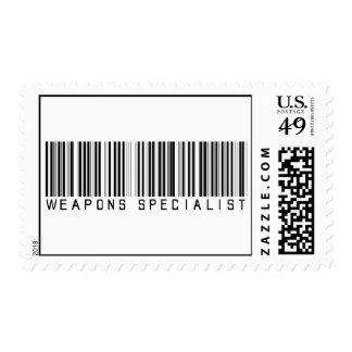Clave de barras del especialista de las armas sello