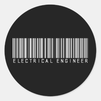 Clave de barras del ingeniero eléctrico pegatinas