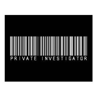 Clave de barras del investigador privado postales