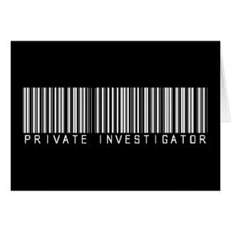 Clave de barras del investigador privado tarjeta de felicitación