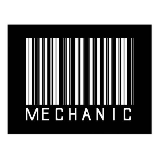 Clave de barras del mecánico postales