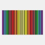 Clave de barras del orgullo del arco iris etiquetas