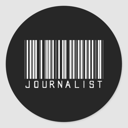 Clave de barras del periodista pegatina redonda