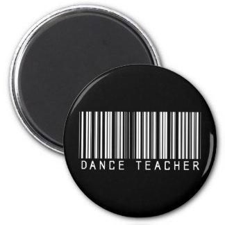 Clave de barras del profesor de la danza imán redondo 5 cm