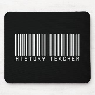 Clave de barras del profesor de la historia alfombrillas de raton