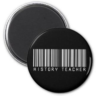 Clave de barras del profesor de la historia imán redondo 5 cm