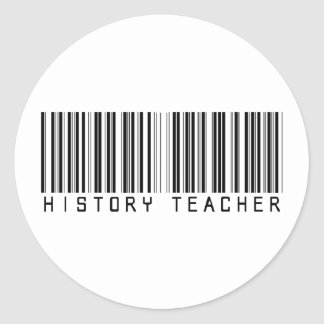 Clave de barras del profesor de la historia pegatina redonda