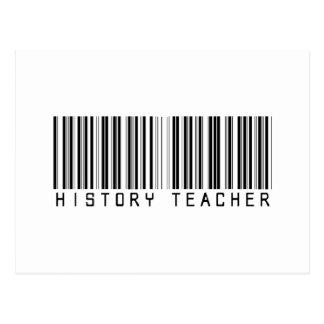 Clave de barras del profesor de la historia postal