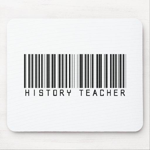 Clave de barras del profesor de la historia tapetes de raton