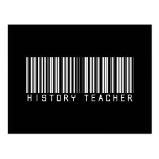 Clave de barras del profesor de la historia tarjetas postales