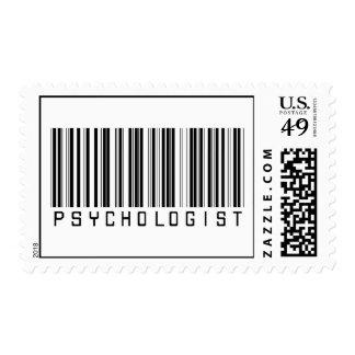 Clave de barras del psicólogo estampilla