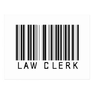 Clave de barras del secretario judicial tarjetas postales