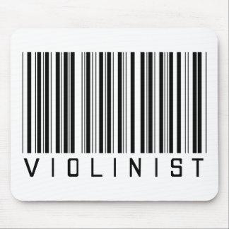 Clave de barras del violinista tapetes de raton