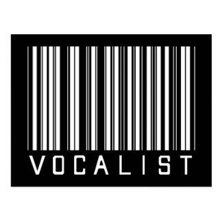 Clave de barras del vocalista postales
