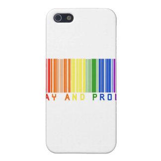 Clave de barras gay y orgullosa iPhone 5 carcasas
