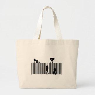 Clave de barras ideal bolsa tela grande