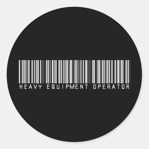 Clave de barras pesada del operador del equipo pegatina redonda