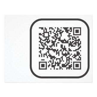 "Clave de barras Scannable de QR Folleto 8.5"" X 11"""