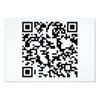 """Clave de barras Scannable de QR Invitación 3.5"""" X 5"""""""