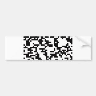 Clave de barras Scannable de QR Pegatina Para Auto