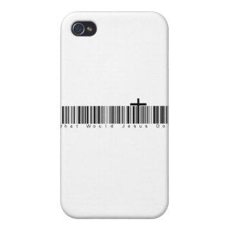 Clave de barras WWJD iPhone 4 Protector