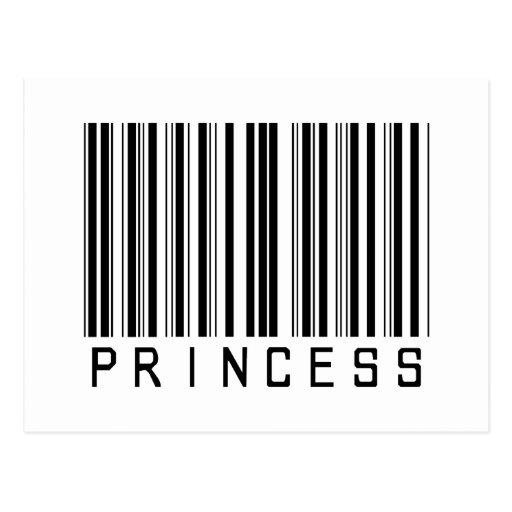 Clave de la princesa barras postal