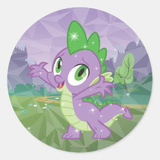 Clave el dragón pegatinas redondas