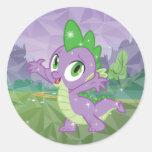 Clave el dragón pegatina redonda