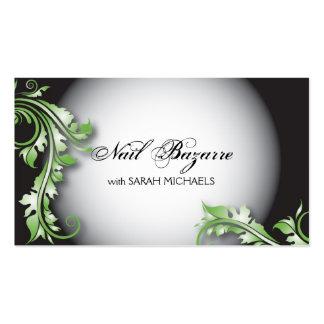 Clave floral de lujo intrépido de la tarjeta de tarjetas de visita