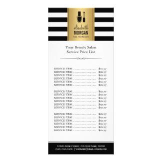 CLAVE la lista de precios de las rayas del blanco Tarjeta Publicitaria Personalizada