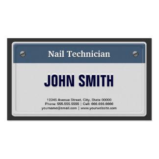 Clave la placa fresca del coche del técnico plantillas de tarjetas personales