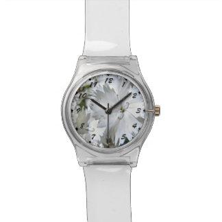 Clavel blanco reloj