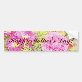 Clavel feliz del día de madre pegatina de parachoque