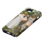 Clavel, lirio, lirio, subió, arte del Victorian de iPhone 5 Case-Mate Cárcasa