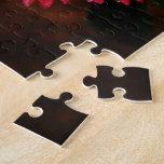 Clavel rojo con las gotas de agua puzzle
