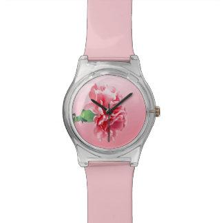 Clavel rosado relojes de mano