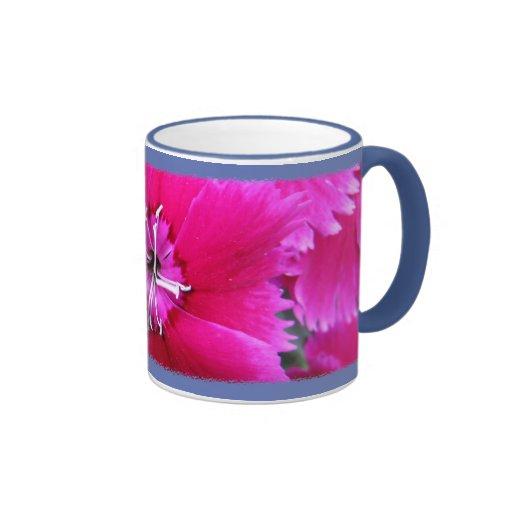 Clavel rosado taza de dos colores