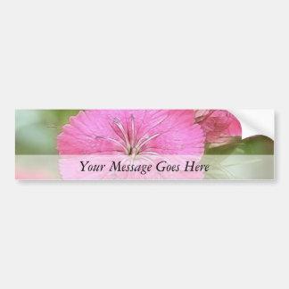 Clavel Williams dulce rosado Pegatina Para Auto