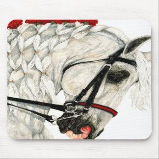 Claveles rojos - cojín de ratón del caballo tapetes de raton