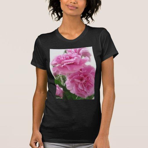 Claveles rosados 1 tshirts