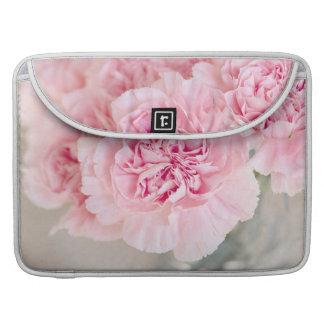 Claveles rosados fundas para macbook pro