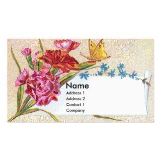 Claveles y tarjeta del comercio del Victorian de Plantillas De Tarjetas Personales