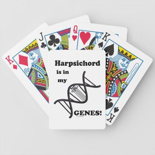 Clavicordio en mis genes baraja cartas de poker