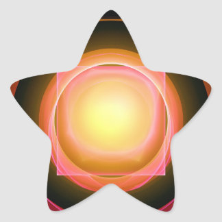 Clavija cuadrada en un agujero redondo calcomanías forma de estrellaes