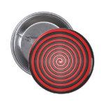 Clavija en espiral hipnótica roja y negra pin