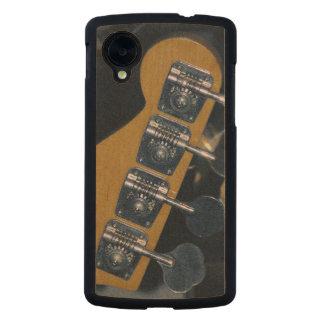 clavijas de adaptación de la guitarra baja funda de nexus 5 carved® slim de arce